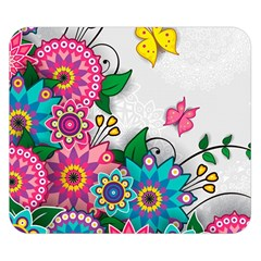 Flowers Pattern Vector Art Double Sided Flano Blanket (small)  by Amaryn4rt