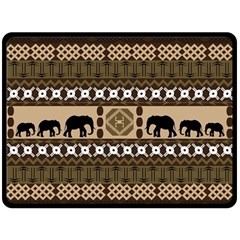 African Vector Patterns  Fleece Blanket (large)  by Amaryn4rt