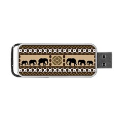 African Vector Patterns  Portable Usb Flash (two Sides) by Amaryn4rt