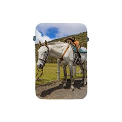 White Horse Tied Up At Cotopaxi National Park Ecuador Apple Ipad Mini Protective Soft Cases by dflcprints