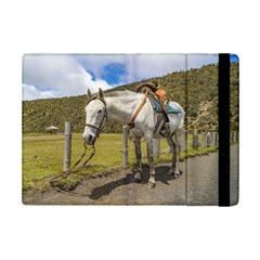 White Horse Tied Up At Cotopaxi National Park Ecuador Ipad Mini 2 Flip Cases by dflcprints
