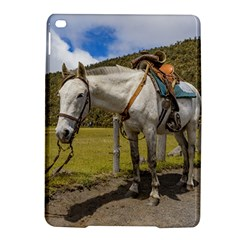 White Horse Tied Up At Cotopaxi National Park Ecuador Ipad Air 2 Hardshell Cases by dflcprints