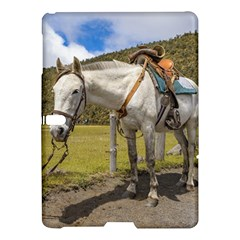 White Horse Tied Up at Cotopaxi National Park Ecuador Samsung Galaxy Tab S (10.5 ) Hardshell Case  by dflcprints