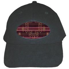 Ulos Suji Traditional Art Pattern Black Cap