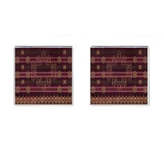 Ulos Suji Traditional Art Pattern Cufflinks (square) by Amaryn4rt
