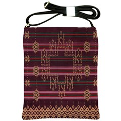 Ulos Suji Traditional Art Pattern Shoulder Sling Bags by Amaryn4rt