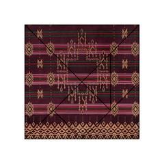 Ulos Suji Traditional Art Pattern Acrylic Tangram Puzzle (4  x 4 )