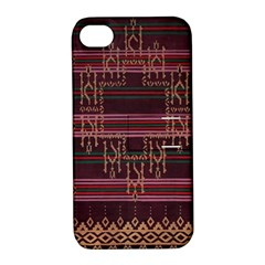 Ulos Suji Traditional Art Pattern Apple Iphone 4/4s Hardshell Case With Stand by Amaryn4rt