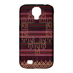 Ulos Suji Traditional Art Pattern Samsung Galaxy S4 Classic Hardshell Case (pc+silicone) by Amaryn4rt