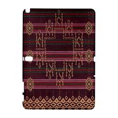 Ulos Suji Traditional Art Pattern Galaxy Note 1 by Amaryn4rt