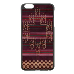 Ulos Suji Traditional Art Pattern Apple Iphone 6 Plus/6s Plus Black Enamel Case by Amaryn4rt