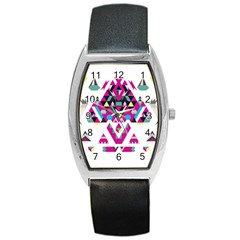 Geometric Play Barrel Style Metal Watch by Amaryn4rt