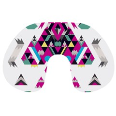 Geometric Play Travel Neck Pillows by Amaryn4rt