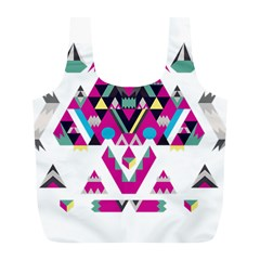 Geometric Play Full Print Recycle Bags (l)  by Amaryn4rt