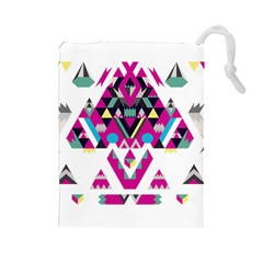 Geometric Play Drawstring Pouches (large)  by Amaryn4rt