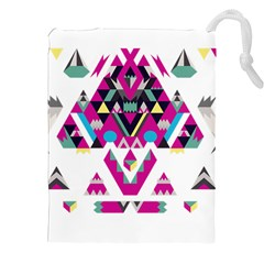 Geometric Play Drawstring Pouches (xxl) by Amaryn4rt