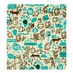 Telegramme Shower Curtain 66  X 72  (large)  by Amaryn4rt