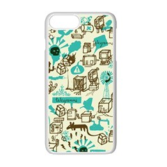 Telegramme Apple iPhone 7 Plus White Seamless Case by Amaryn4rt