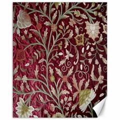 Crewel Fabric Tree Of Life Maroon Canvas 16  X 20