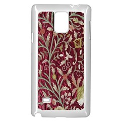 Crewel Fabric Tree Of Life Maroon Samsung Galaxy Note 4 Case (white) by Amaryn4rt