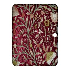 Crewel Fabric Tree Of Life Maroon Samsung Galaxy Tab 4 (10 1 ) Hardshell Case