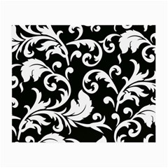 Vector Classical Traditional Black And White Floral Patterns Small Glasses Cloth by Amaryn4rt