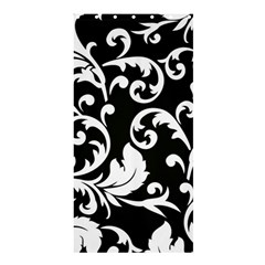 Vector Classical Traditional Black And White Floral Patterns Shower Curtain 36  X 72  (stall)  by Amaryn4rt