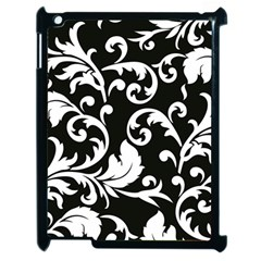 Vector Classical Traditional Black And White Floral Patterns Apple Ipad 2 Case (black) by Amaryn4rt