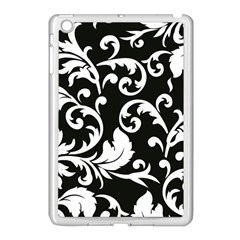 Vector Classical Traditional Black And White Floral Patterns Apple Ipad Mini Case (white) by Amaryn4rt