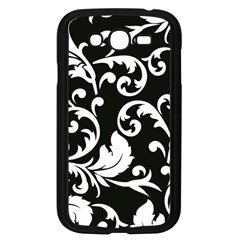 Vector Classical Traditional Black And White Floral Patterns Samsung Galaxy Grand Duos I9082 Case (black) by Amaryn4rt