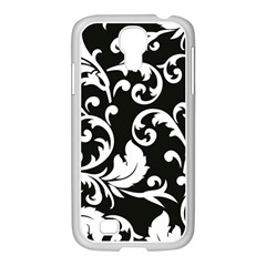Vector Classical Traditional Black And White Floral Patterns Samsung Galaxy S4 I9500/ I9505 Case (white) by Amaryn4rt