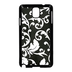 Vector Classical Traditional Black And White Floral Patterns Samsung Galaxy Note 3 Neo Hardshell Case (black) by Amaryn4rt