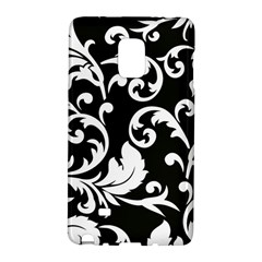 Vector Classical Traditional Black And White Floral Patterns Galaxy Note Edge by Amaryn4rt