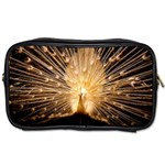 3d Beautiful Peacock Toiletries Bags Front