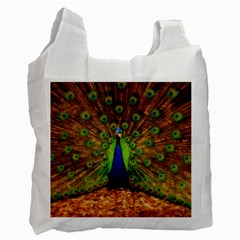 3d Peacock Bird Recycle Bag (one Side) by Amaryn4rt