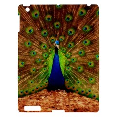 3d Peacock Bird Apple Ipad 3/4 Hardshell Case by Amaryn4rt