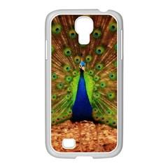 3d Peacock Bird Samsung Galaxy S4 I9500/ I9505 Case (white) by Amaryn4rt