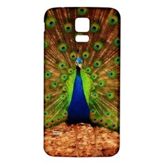 3d Peacock Bird Samsung Galaxy S5 Back Case (white) by Amaryn4rt
