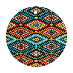 African Tribal Patterns Ornament (round)