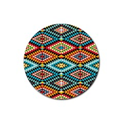 African Tribal Patterns Rubber Coaster (round)  by Amaryn4rt