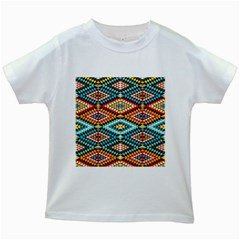 African Tribal Patterns Kids White T Shirts by Amaryn4rt