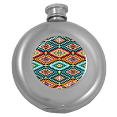 African Tribal Patterns Round Hip Flask (5 Oz) by Amaryn4rt