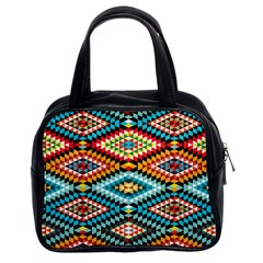 African Tribal Patterns Classic Handbags (2 Sides) by Amaryn4rt