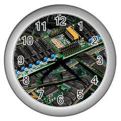 Computer Ram Tech Wall Clocks (silver)
