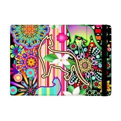 Mandalas, Cats And Flowers Fantasy Digital Patchwork Apple Ipad Mini Flip Case by BluedarkArt