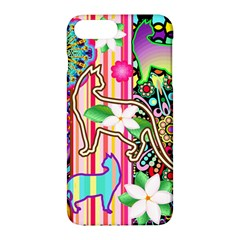 Mandalas, Cats And Flowers Fantasy Digital Patchwork Apple Iphone 7 Plus Hardshell Case