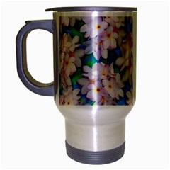 Plumeria Bouquet Exotic Summer Pattern  Travel Mug (silver Gray) by BluedarkArt