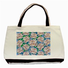 Plumeria Bouquet Exotic Summer Pattern  Basic Tote Bag by BluedarkArt