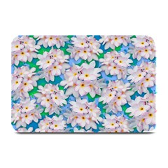 Plumeria Bouquet Exotic Summer Pattern  Plate Mats by BluedarkArt