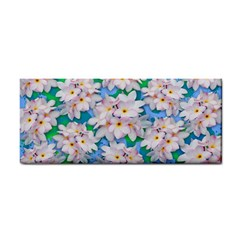 Plumeria Bouquet Exotic Summer Pattern  Cosmetic Storage Cases by BluedarkArt